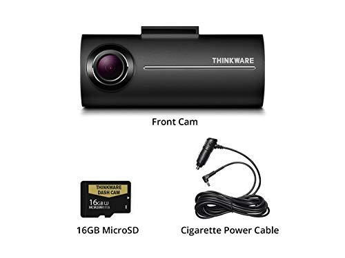 THINKWARE F100 FHD 1080P @ 30FPS 140度 16GB MicroSD | オプションの2チャンネルリアビューハードワイヤ...