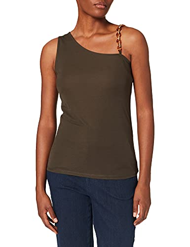 Morgan T-Shirt 211-DANE Camiseta, marrón, S para Mujer