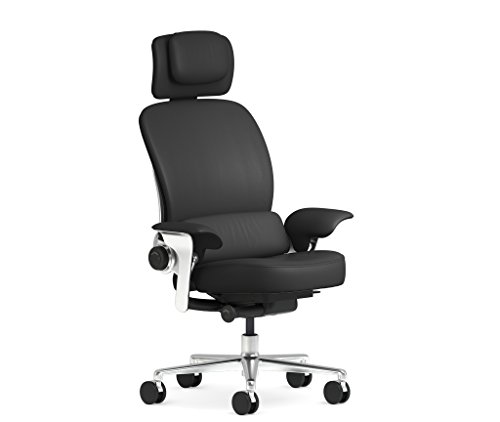 Steelcase Leap WorkLounge Office Desk Chair Elmosoft Ebony...