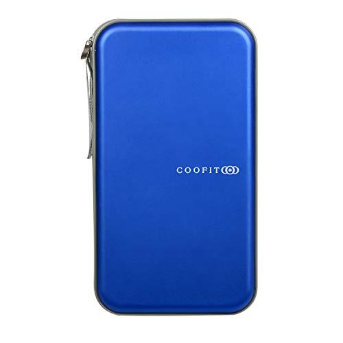COOFIT Porta CD, Estuche CD de 80 Disco, Estuche de y DVD de plástico Duro Protector de Almacenamiento de VCD Almacenamiento (Azul)