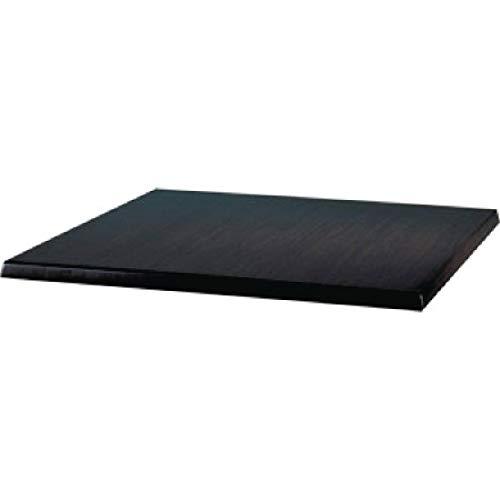 Werzalit Plus Ce157 carré Dessus de table, 700 mm, Noir
