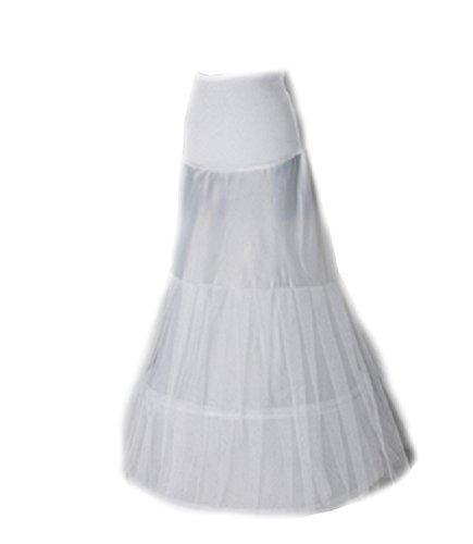 Neu Weiß Meerjungfrau Reifrock Mermaid Unterrock Petticoat Brautkleid Reifrock Fishtail