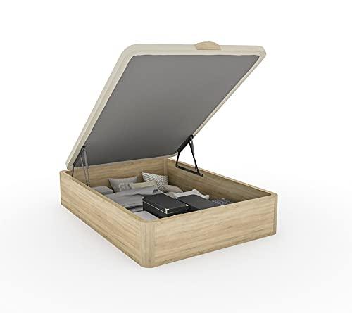 Santino Canapé Abatible Wooden Gran Capacidad Cambrian 160x200 cm con Montaje a Domicilio Gratis