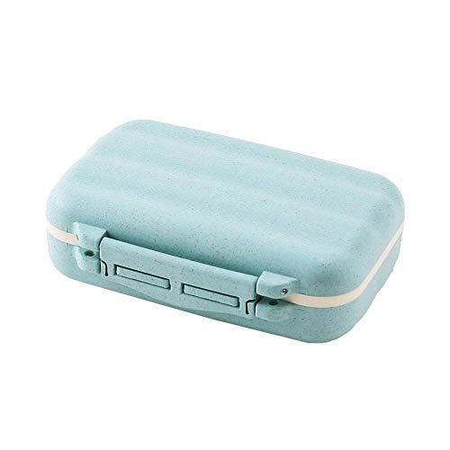 ZGONGLQQ Draagbare Travel Memory Aids Pil Doos Tarwe Rietorganisator Medicine Container Case Vitamine Houder Outdoor Werk