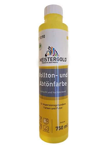 4 x 750 ml Meistergold Voll- und Abtönfarbe innen & außen 3 L Matt Farbwahl, Farbe:zitrone