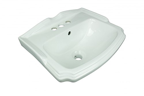 Small Wall Mount Bathroom Sink White China 4in Centerset Faucet Boring With Overflow And Backsplash Space Saver