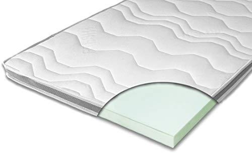 ARBD Matratzenauflage - Topper | Modelle mit 7-12cm Gesamthöhe | waschbarer Bezug mit 3D-Mesh-Klimaband (H4-7 cm, 180 x 200 cm)