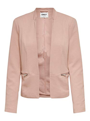 Only ONLMADDY-Anna Life L/S Zip Blazer CC TLR, Misty Rose, 44 para Mujer
