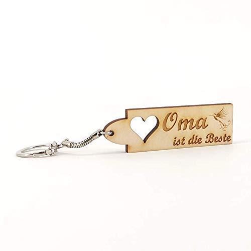Schlüsselanhänger Oma ist die Beste - Namen - Holz Geburtsgeschenk, Geburtstagsgeschenk, Weihnachtsgeschenk