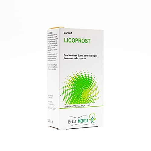 ErbalMedica - LICOPROST 60 capsule Integratore per il fisiologico benessere della prostata