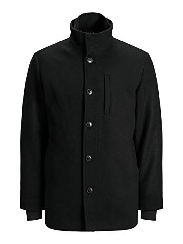Jack & Jones JJDUAL Wool Jacket Chaqueta, Negro, XL para Hombre