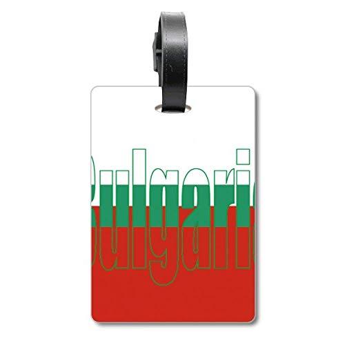 Bulgarien Landesflagge Name Koffer Tasche Anhänger Gepäckkarte Hängende Scutcheon Label