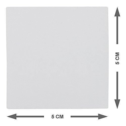 25 Magnete Wiederbeschreibbar 5 x 5 cm für Magnettafeln, Kühlschränke, Plantafeln und Whiteboards Haftnotizen leicht abnehmbar und wiederverwendbar. Auch für Agile, Scrum, Kanban oder Lean. (Grau)