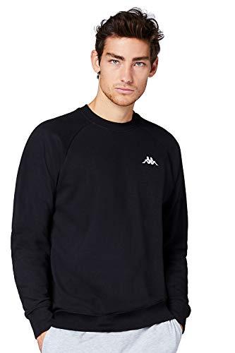Kappa VAUKE Sweatshirt I Unisex Pullover aus Baumwolle I Basic für Sport und Freizeit I Sweater für Frauen und Männer I Größe XL, schwarz