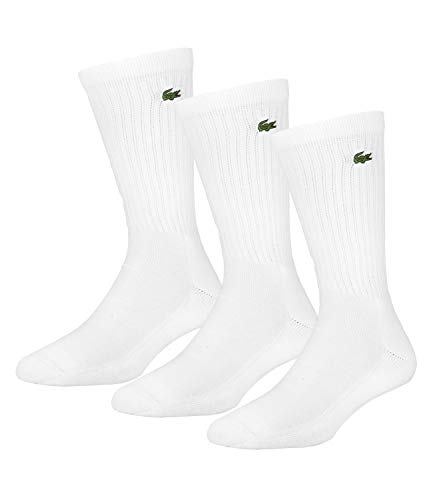 Lacoste Heren Logo sokken met 3 pakken, Wit