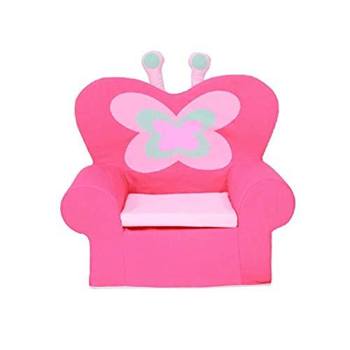 YouYou-YC wasbare kinderbank stoel, gemakkelijk te verplaatsen baby peuter stoelen voor meisjes roze kleur