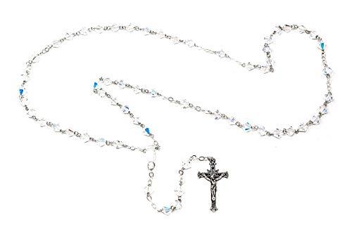 Catholic Gift Shop Ltd Rosario de Plata de Ley 925 con Cuentas de Swar