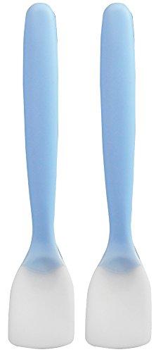 マーナ(MARNA) セット ヨーグルト スプーン 2本セット 残さずすくえる ブルー2本組 K653B×2