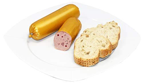 Gourmet Schinkenleberwurst mit Preiselbeeren | Hausmacher Leberwurst geräuchert | Wurst mit Beeren Aufstrich | 150g