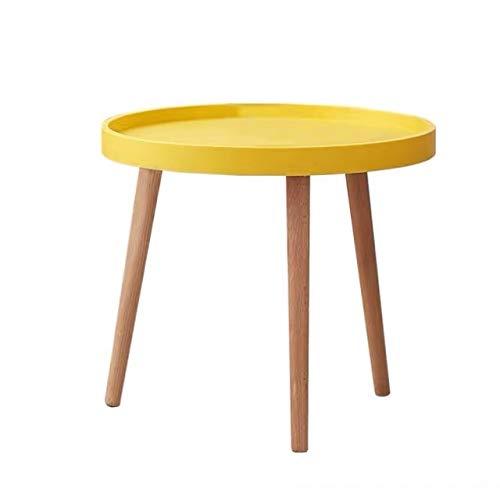 1 tavolino rotondo da salotto 45 x 50 cm (giallo).