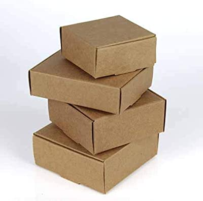 Ranggrgt DIY Kraft Paper Box Gift Box for Wedding Favors Birthday Party Candy Cookies Christmas Party
