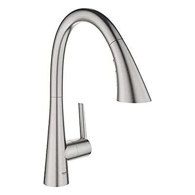 Grohe 32298DC3 Ladylux L2 Single-Handle Kitchen Faucet, SuperSteel InfinityFinish