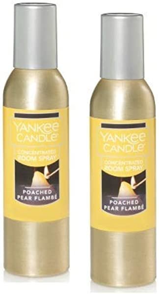 Yankee Candle 2 Pack Poached Pear Flambe Concentrated Room Spray 1 5 Oz