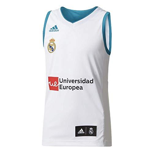 adidas RM Y Camiseta Equipación Línea Real Madrid FC, niños, Blanco, 116