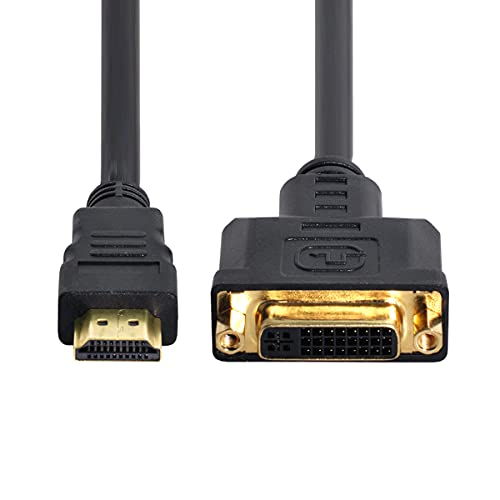 CY HDMI a DVI Cable HDMI macho a DVI (24+5) Adaptador hembra...