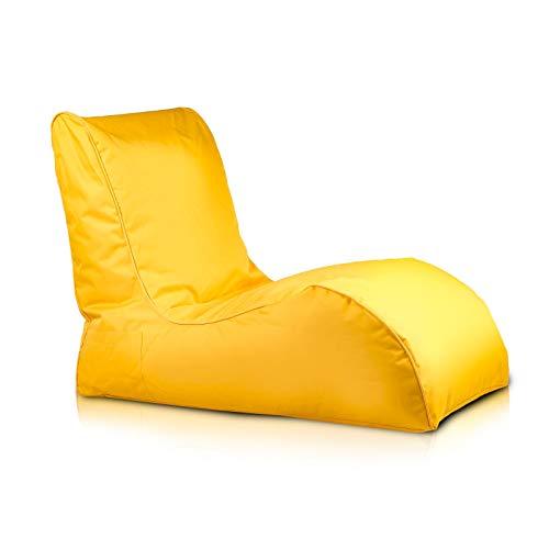 Bepouf Poltrona Chaise Longue Puf Pouf Dimensioni 110x80 Poliestere Pieno (Giallo)