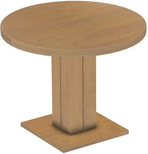 Brasil Furniture Rio UNO Rond 90 cm Brasil tafel eettafel massief grenen, eetkamertafel hout keukentafel echt hout maat en kleur naar keuze Rustiek Tisch Rund 100 cm 118 eiken natuur