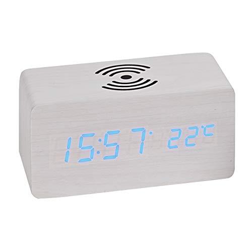 Atlanta LED-wekker met inductief laadstation voor smartphones - 1129-0