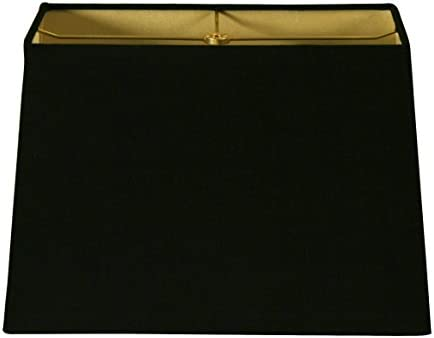 Royal Designs Inc Rectangle Hardback Lamp Shade Black 8 x 16 x 10 x 18 x 12 HB 613 18BLK product image