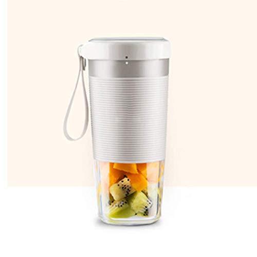 LKOER Exprimidor de masticación, Extractor de Jugo de Prensa en frío, Blender Multifuncional Fruit Fruit, Juicer Portátil Juicer-White Kshu jinyang