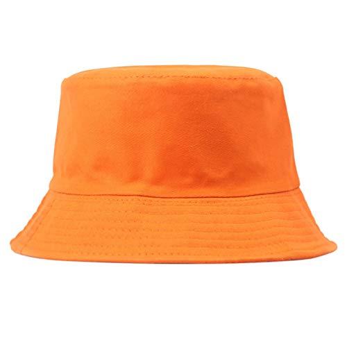 Junhouse Unisex Damen Herren Baumwolle Sonnenhut Fischerhut Fischerhut Fischerhut Gr. Einheitsgröße, Orange