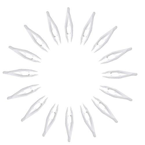 50 piezas Creative Pinzas, pinces en plastique, pinzas de punta plana, pinzas de plástico para niños, pinzas de plástico desechables para hacer joyas y manualidades