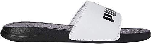 PUMA Popcat 20, Zapatos de Playa y Piscina Unisex Adulto, Negro Black White, 40.5 EU
