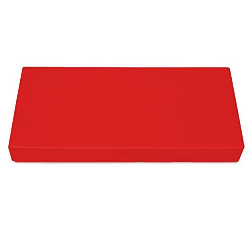 SuperKissen24. Materasso Cuscino per Bancale Divano Pallet 80x40 cm Seduta Impermeabile e Comodo per Divanetti da Esterno - Rosso