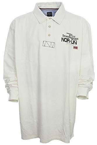 Kitaro Polosweat Sweatshirt Polo Sweat Shirt Herren Langarm Extra Lang Tall, Farbe:cremeweiß, Herrengrößen:2XT