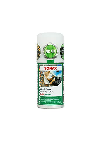SONAX KlimaPowerCleaner AirAid probiotisch (100 ml) sorgt schnell und einfach für langanhaltende Lufthygiene und befreit dauerhaft von lästigen Gerüchen | Art-Nr. 03231000