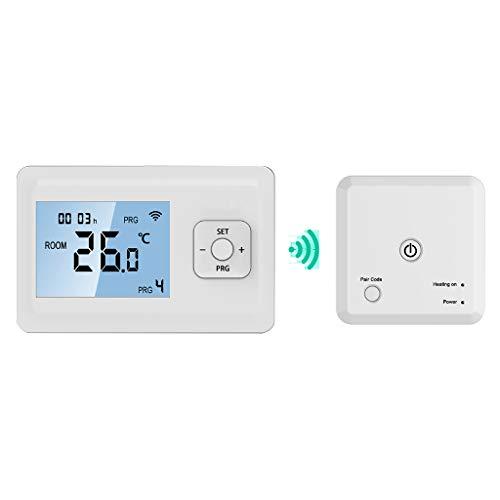 Buwei Termostato de calefacción WiFi Digital Controlador inalámbrico de Pared programable