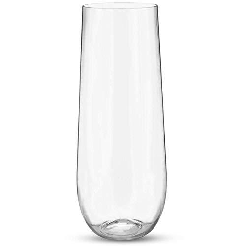 SNOWINSPRING Copas de Vino de PláStico Transparente Irrompible Sin Tallo de 25 Piezas Copa de ChampáN (9 Onzas)