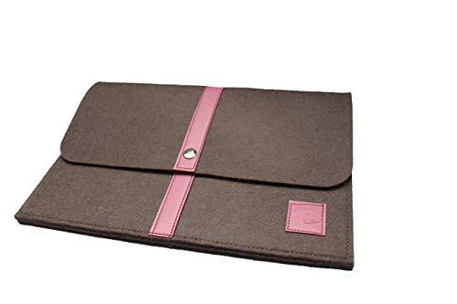 Dealbude24 Schöne Tablet Tasche aus Wolle passend für Samsung Galaxy Note Pro 12.2 P900 P905 / Tab Pro 12.2 / Tab Pro S, Stoßfeste Tablet Hülle für Büro, Reise, Uni & zu Hause Davii in groß Rosa