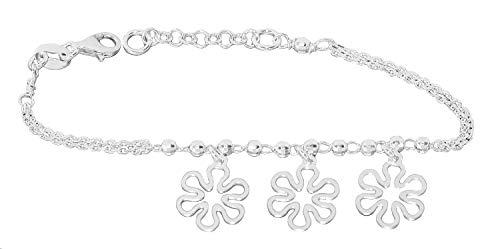 Armband zilver 925 bloemen hanger armketting dames meisjes kinderen bedelarmband hobra-goud