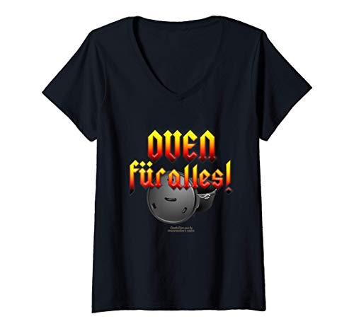 Damen Dutch Oven Spruch Oven für alles Dutch Oven T-Shirt mit V-Ausschnitt