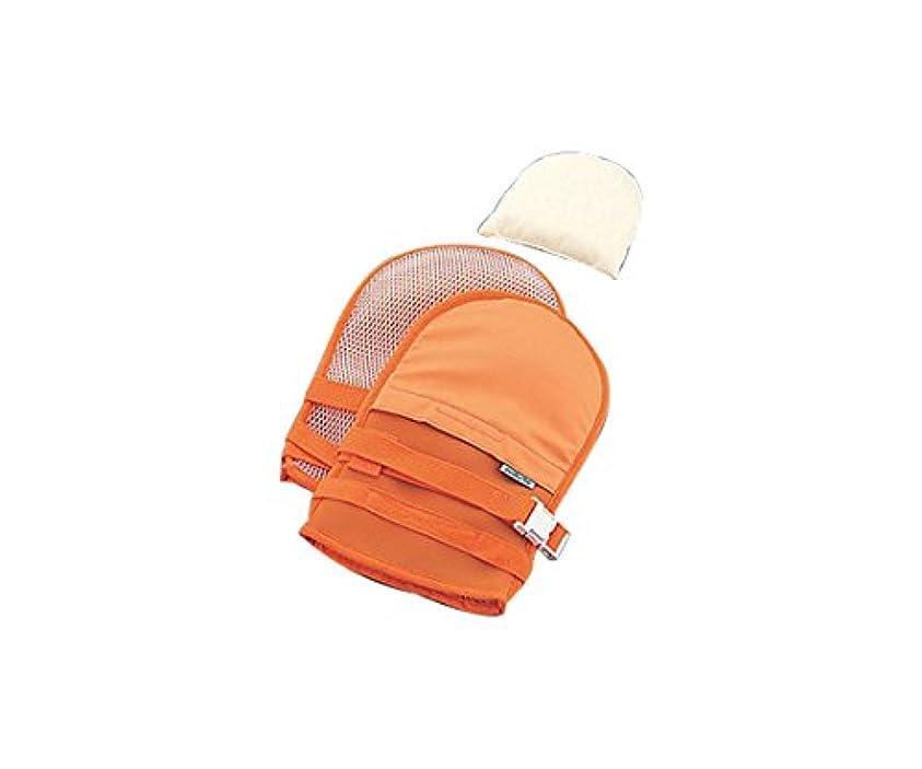 家事事前ディレイナビス(アズワン)0-1638-42抜管防止手袋中メッシュオレンジ