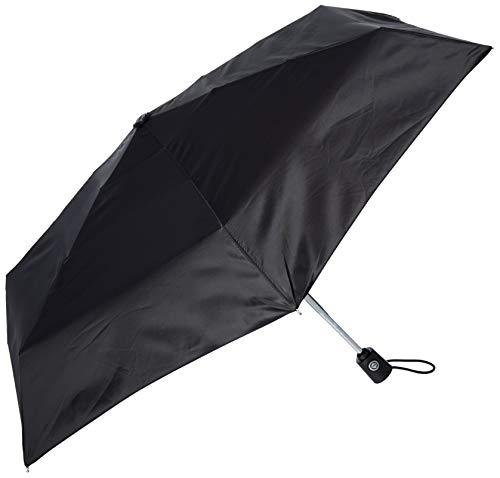 Raines Automatic Compact Umbrella with Auto Open and Close, Black