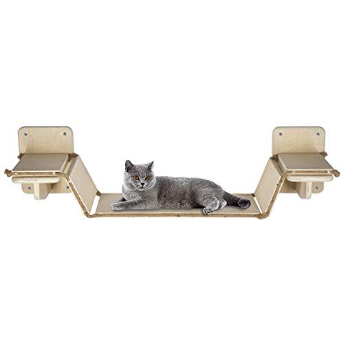 FENGLI Plataforma de madera para gatos con estantes de escalón para escalones,...