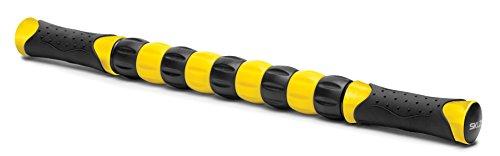 SKLZ Massagestick, Massageroller für Muskelregeneration und Muskelentspannung, Vor & Nach Workout Ausrüstung, Schwarz/Gelb, 18