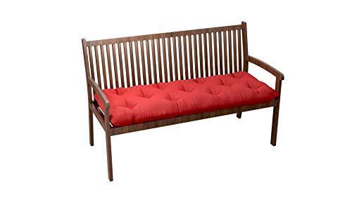Cuscino Trapuntato per Panca mobili in Pallet divani Imbottiti per Interni ed Esterni per Salotto terrazza Giardino Ampia Scelta di Colori e Dimensioni (100x40x12, Rosso)
